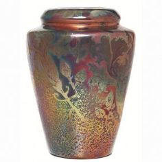 Weller Sicard vase, shouldered form.  Weller Sicard Pottery. Weller Pottery was founded by Samuel Weller in Fultonham, Ohio, United States in 1872. Jacques Sicard who introduced the metallic luster Sicardo line.
