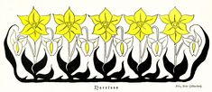 Flowers Digital Art - 1897 Jugend Print Art Nouveau Motifs Flowers Narcissus Daffodil  by Fritz Erler