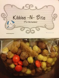 Kibbles-N-Bits for the humans-for Riley's Puppy Party