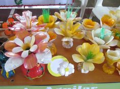 Recycled Plastic Bottles Flowers                                                                                                                                                     More