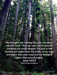 Thoughts - Isaiah 55:8-9