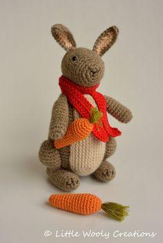 Crochet Pattern Timmy the Bunny Rabbit door LittleWoolyCreations