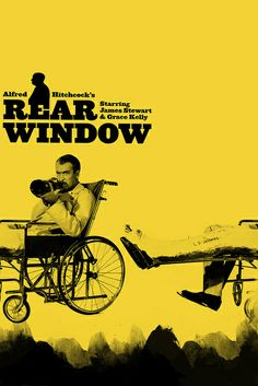 Rear Window | Artist: Arian Behzadi - http://cargocollective.com/arianbehzadi Grace Kelly and James Stewart were a great combo in this movie