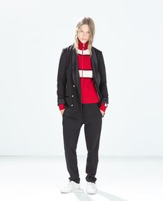 Image 1 of SUIT TROUSERS WITH CONTRAST WAIST from Zara