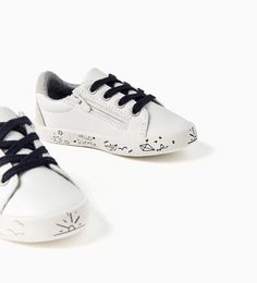 Image 2 of WHITE PLIMSOLLS WITH DESIGN from Zara