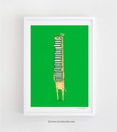 A Book Lover - Art print - ilovedoodle - The visual art of Lim Heng Swee