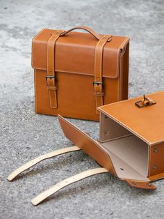 Handmade Leather Backpack /Vintage Leather Macbook Briefcase 2-in ...