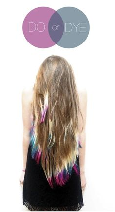 long blonde with purple blue tips