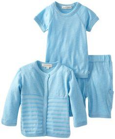Amazon.com: PAIGELAUREN Unisex-Baby Newborn Cardigan Tee Shirt and Shorts: Clothing