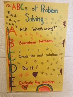 ABCs of problem solving will guide children through conflicts with their friends.