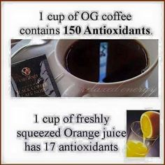 Get everything you need in a cup of Organo Gold Big Coffee, Freshly Squeezed Orange Juice, Coffee Drinkers, Healthy Choices, Gold, Heaven, Sky, Coffee Lovers, Heavens