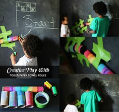 Creative Play With Toilet Paper/Towel Rolls Sophistishe.com #wmtmoms