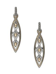 Happy to add these John Hardy 'Naga Collection' Marquise Shaped Earrings (18K and 925 silver) to my jewelry selection...Great deal on them from Gilt.com today!