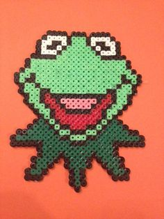 Kermit hama beads by TheMissBlue