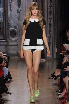 60's cute at Giles #LFW #SS2013 #trends #blackandwhite