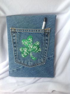 LUCKY SHAMROCK  Covered Composition Notebook by CreativeSewingSue, $16.95