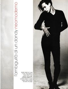 Brett Anderson  L'UOMO VOGUE OCTOBER 1993 scan by lylascans