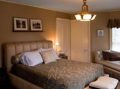 COLOR TIP: add warm colors in rooms where you'd like to create a cozier atmosphere. Amy Wax, Tans, Warm Colors, Cozy, Rooms, Beige, Create, Furniture, Home Decor