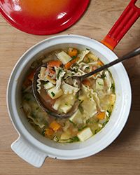 Chicken Noodle Soup with Parsnips and Dill - This was a really good chicken soup recipe.  It didn't take long to make at all either.
