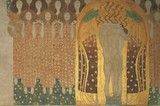 Frieze by Gustave Klimt in the Secession Building in Vienna