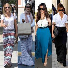 A saia longa nunca sai de moda. Além de estar sempre em alta, a peça também pode ser usada em todos os tipos de corpo e em qualquer situação.  #famous #glam #skirt