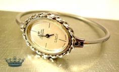 """Spangenuhr """"TickTack""""  Swiss Made 70er Vintage Uhr von Mont Klamott - Sachen & Dinge vom Zauberberg - Liebzuhabendes, Zuverschenkendes, Verspieltes, Überladenverziertes, Tickendes, Klunkerndes, Amüsierendes, Zauberhaftes, Überraschendes, Träumerisches, Verzierendes, Vintage, Antikes, Kuriositäten, Sammlerstücke, Schmuck & Uhren ... auf DaWanda.com"""