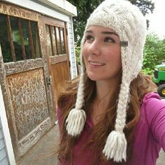 North Face Ski Hat Soft, cream white ski hat from North Face! Super fuzzy and warm, with a braided sweater pattern. Gently loved, clean, and in good condition! Can be combined and bundled with any other item in my closet for a discount :) North Face Accessories Hats