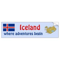 Shop Iceland Flag + Map Bumper Sticker created by FlagAndMap. Flag Country, Country Maps, Iceland Flag, Car Sit, Political Events, Honor Roll, Flags Of The World, Map Design, National Flag