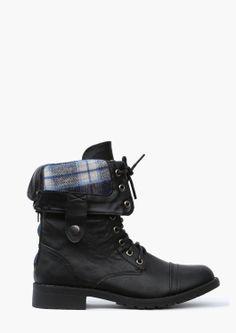 Combat style short boots
