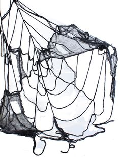 8'DIA GAUZE/THREAD SPIDER WEB #spider #web #Halloween