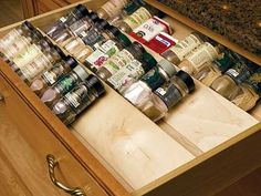 Spice Drawer Insert by Omega National - - cabinet and drawer organizers - - by KitchenSource