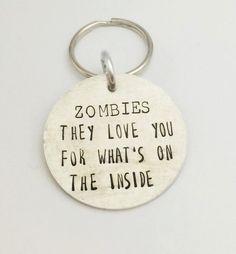 Hand Stamped Zombie Walking Dead by PurpleBJewellery on Etsy