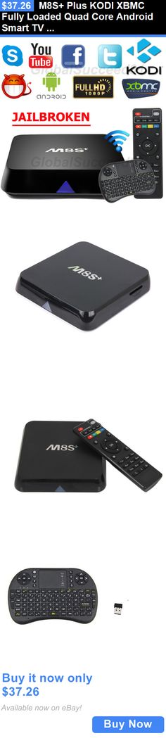 Home Audio: M8s+ Plus Kodi Xbmc Fully Loaded Quad Core Android Smart Tv Box 1080P+ Keyboard BUY IT NOW ONLY: $37.26