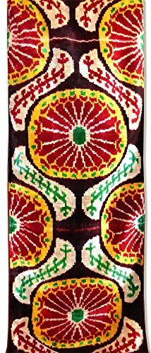 The Art of designing of Uzbek fabrics is indeed an outstanding phenomenon of popular art. It combines high traditions of antiquity and vivid sense of modernity. Various plain and patterned handcrafted cotton, silk, semisilk fabrics of complex and simple textures were produced in Samarkand,... see more details at https://bestselleroutlets.com/arts-crafts-sewing/fabric/product-review-for-uzbek-pure-silk-ikat-handcrafted-abr-velvet-fabric-bakhmal-1-meter-2/