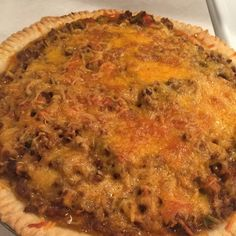 CHEESEBURGER PIE   This pie comes together pretty quickly. You use refrigerator pie crusts that you simply unroll and fill with ground beef, onion, garlic and crushed tomatoes then topped with cheese!              Cheeseburger Pie       Ingredients:       1 box Pillsbury Refr...