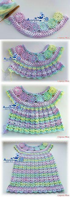 Fabulous Crochet a Little Black Crochet Dress Ideas. Georgeous Crochet a Little Black Crochet Dress Ideas. Crochet Dress Girl, Baby Girl Crochet, Crochet Baby Clothes, Crochet For Kids, Baby Knitting Patterns, Baby Patterns, Crochet Patterns, Crochet Stitches, Knit Crochet