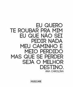 Já me perdi (Ana Carolina)