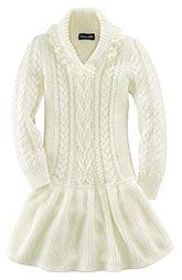 Ralph Lauren Shawl Collar Sweater Dress (Toddler)