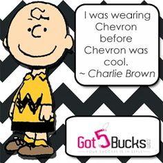 Charlie Brown and Chevron Stripes – Got 5 Bucks? Paparazzi Accessories by Jill Hunt #1680 ~ Sell Wholesale Jewelry from Home