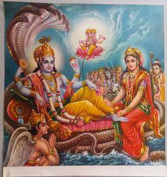 India Mythological Hindu Gods Old Big Print- Lord Vishno Lord Ganesha Paintings, Ganesha Art, Ganesh Yantra, Krishna Hindu, Hindu Deities, Durga Maa, Lord Hanuman Wallpapers, Lord Krishna Hd Wallpaper, Shri Ram Photo