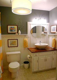 Cute remodeled bathroom!