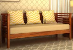 Give you living room a pleasing touch with Onterio 3 Seater Wooden Sofa in Honey Finish. The beautiful #design of #three #seater #sofa makes it so appealing choice that no one can resist. Get #3SeaterSofa online in #Hyderabad #Noida #Ahmedabad #Pune