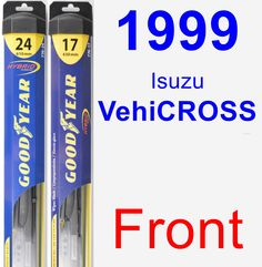 Front Wiper Blade Pack for 1999 Isuzu VehiCROSS - Hybrid