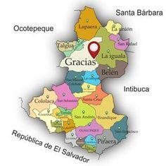 espaciohonduras mapas por departamento de la Repblica de Honduras