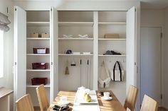 ママにやさしいリビングクロークのお家 General Goods, Shelving, Space, Interior, Closet, Furniture, Home Decor, Shelves, Floor Space