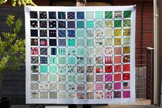 I finished my Cotton + Steel quilt top...now to decide how to quilt it!
