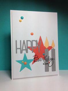 Birthday Stars Happy Birthday Kids, Birthday Star, Kids Birthday Cards, Handmade Birthday Cards, Unicorn Birthday, Handmade Cards, Teen Birthday, Princess Birthday, Masculine Birthday Cards