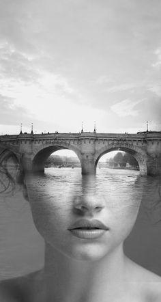 The Bridge by Antonio Mora (original in colour).  °--s------Bellos ojos, mas bellos si ven bien. Controlate cada año.Lee en nuestro blog