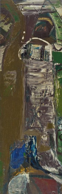 Peter LANYON, Bodmin Moor 18 June oil on masonite on board, 26 x 8 in/, 68 x cm Peter Wood, Abstract Art Images, Pictures At An Exhibition, Abstract Landscape, Abstract Pattern, Abstract Expressionism, Cornwall, St Ives, Mark Making
