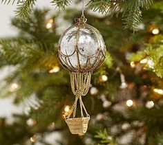 Hot Air Balloon  Ornament #potterybarn